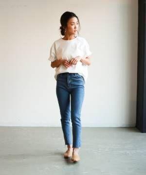 [Auntie Rosa] 【Holiday】ヘビーウェイトスリットTシャツ