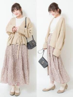 GU 花柄スカート2