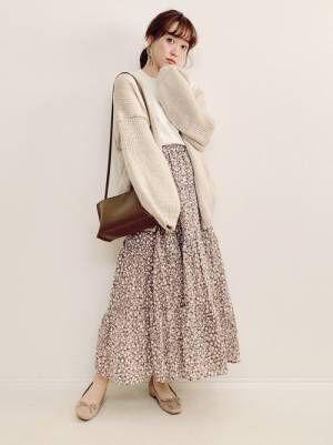 GU 花柄スカート