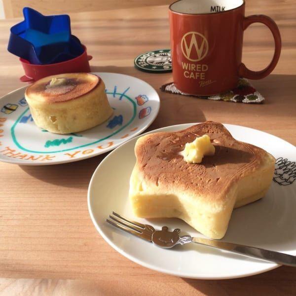 星形のパンケーキ型(セリア)