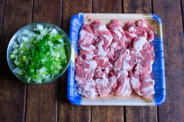 ネギ豚チャーハンと簡単副菜