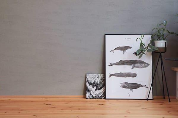 5体のクジラが描かれた「kētos」