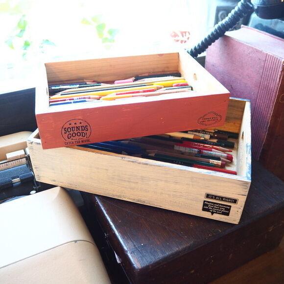 色鉛筆収納ボックスリサイクル