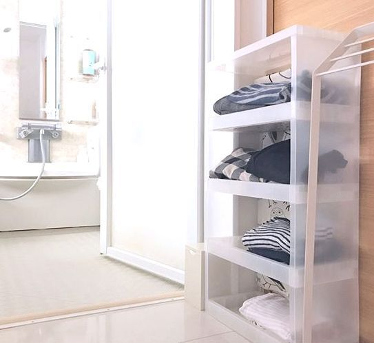 【無印良品】見栄えと使いやすさにこだわりを♪清潔な風呂場・洗面所収納