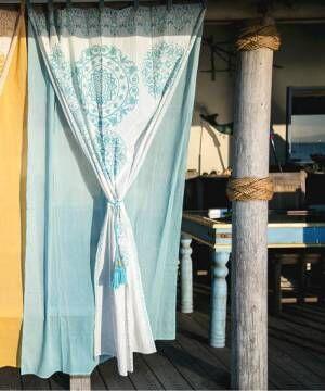 [チャイハネ] 【チャイハネ】セレーネカーテン178cm タッセル付き