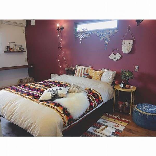 寝室実例ラズベリーカラー