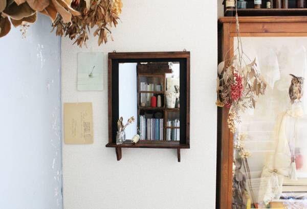 【連載】〈セリア〉グッズでDIY!飾り棚の付いたおしゃれなウォールミラーを作ろう