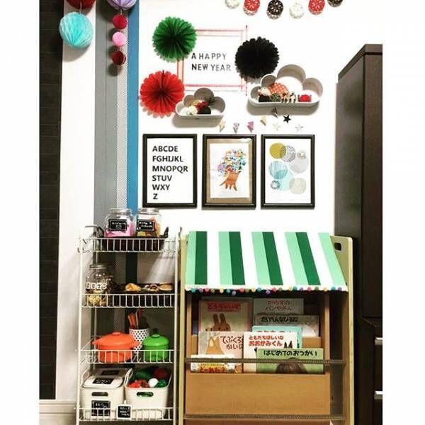 おもいっきり子供部屋っぽく!楽しいおもちゃ収納2