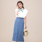 夏にも大活躍する《デニムスカート》◆着こなし例を一挙にご紹介!