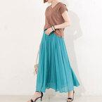 ふんわり感が春らしい♡真似したい「ロングスカート」のお手本コーデをご紹介!