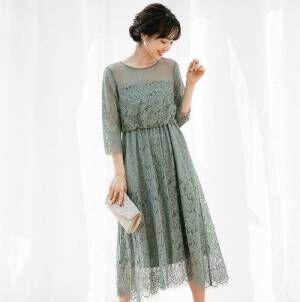 初夏のフォーマルスタイル♡羽織りものいらずの袖ありドレスでお呼ばれコーデ