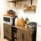 キッチン家電はこう置くのがおすすめ!電子レンジや炊飯器のすっきり設置法