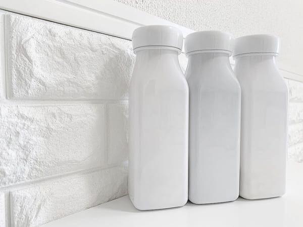 セリアのミルク瓶型ボトル