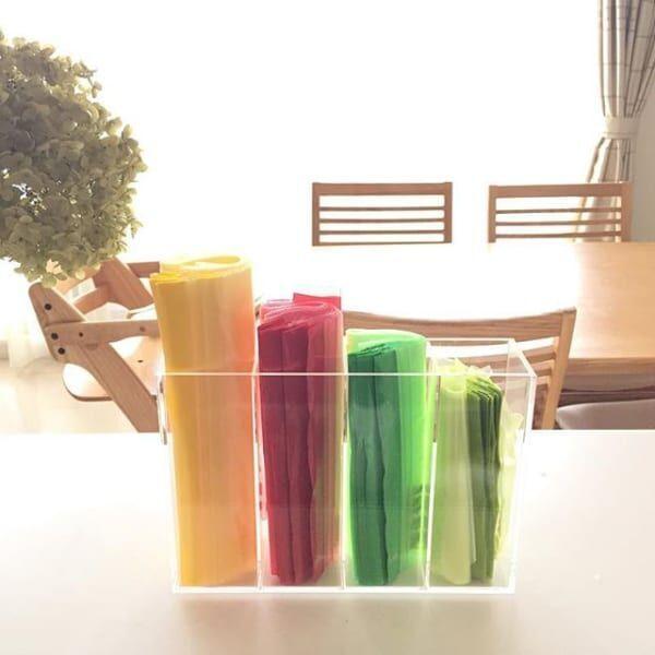 【IKEA】のジッパー付き袋の活用法と収納法☆暮らしのいろんな収納に便利で使える!