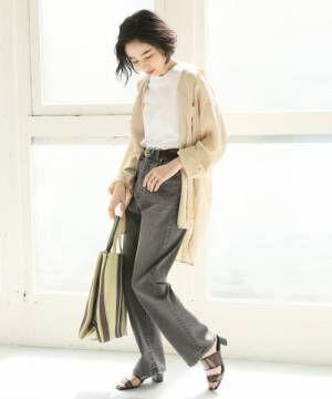 [LOWRYS FARM] フレンチリネンCPOシャツ831450