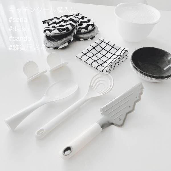 【セリア】でキッチンタイムを楽しく☆スマートで可愛いキッチンアイテム