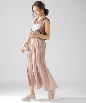 2[BAYFLOW] カラープリーツスカート