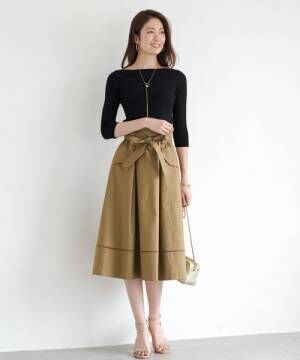[Loungedress] リネンチノフレアスカート