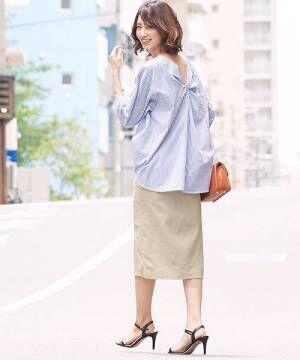 [Pierrot] 綿麻タイトスカート/リネンスカート