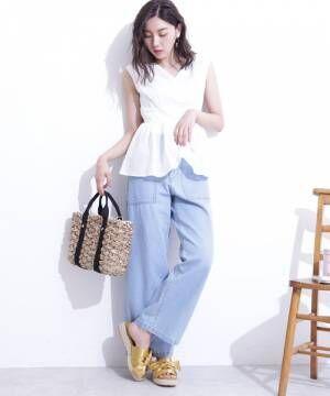 [N.(N. Natural Beauty Basic)] 【追加生産】◆ペプラムノースリーブブラウス