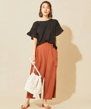 [BEAUTY&YOUTH UNITED ARROWS] 【予約】【WEB限定】フリルスリーブクルーネックカットソー