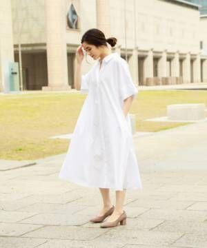 [niko and...] マーセ刻み襟シャツワンピース