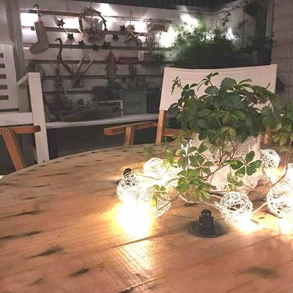 お庭やベランダで星を見ながらお茶を☆インスタグラマーのナイトガーデニングを紹介