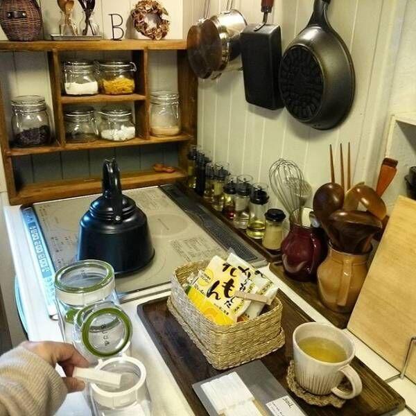 カフェ風キッチンを賃貸で作る7