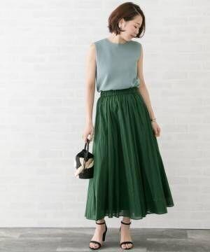[URBAN RESEARCH ROSSO WOMEN] 【Oggi掲載】ギャザーロングスカート