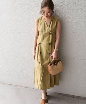 [SHIPS for women] Khaju:ダブルボタンタックワンピース◇