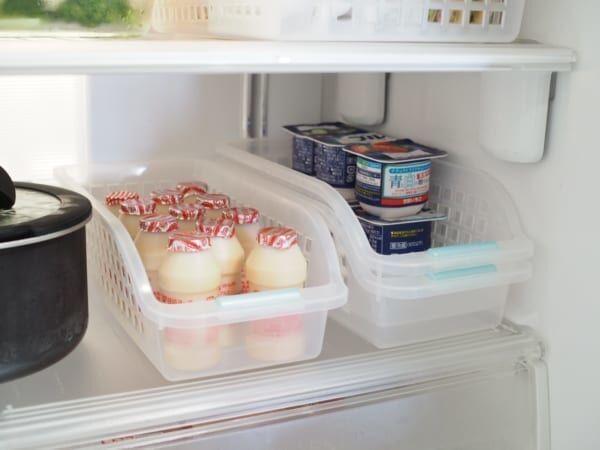 冷蔵室の整理に便利!重なる仕切りケース3