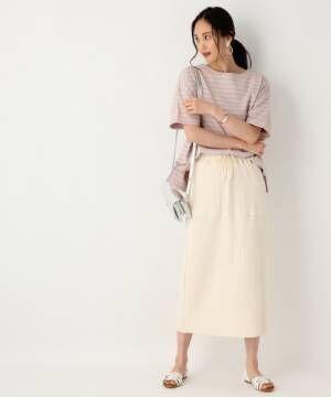 [GLOBAL WORK] ワッフルタイトスカート【吸水速乾】/838019