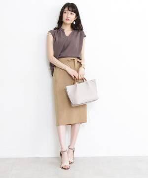 [N.(N. Natural Beauty Basic)] ◆ウエストリボンタイトスカート