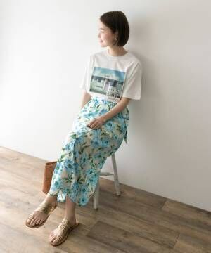[URBAN RESEARCH] アイランドフラワープリントスカート