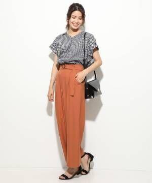 [ViS] 【EASY CARE & UV CARE & COOL TOUCH】斜めポケットワイドパンツ
