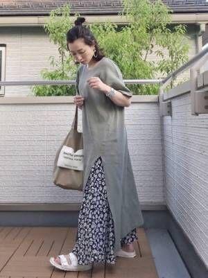 ZARA 花柄スカート
