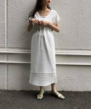 [Kastane] かぎ針レース編みニットワンピ―ス2