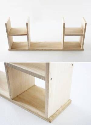 カットするだけでOK!昭和レトロな飾り棚の作り方2