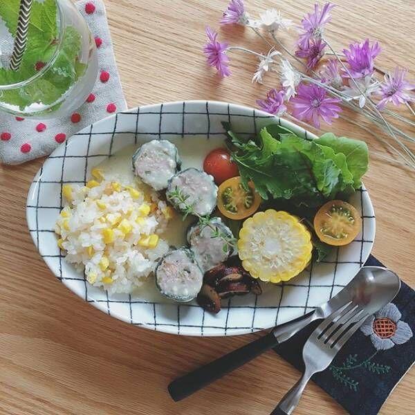 夏野菜の彩り豊かな盛り付け方