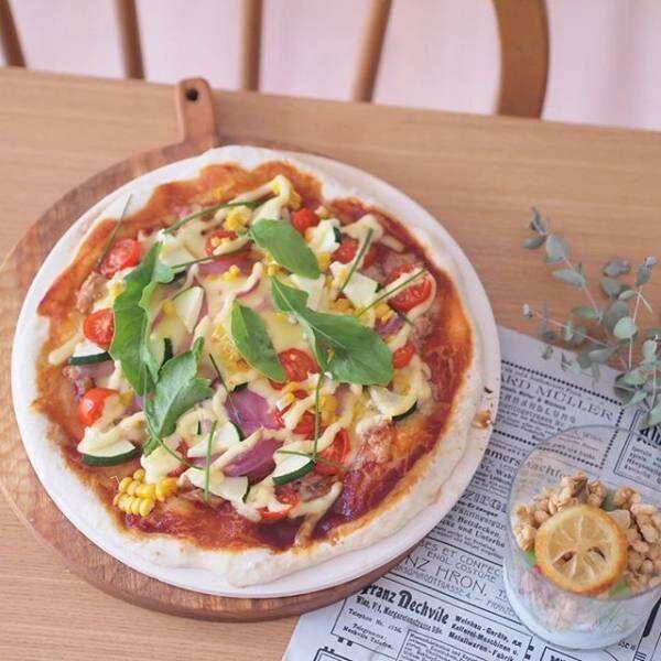 夏野菜のピザ
