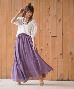 [rps] マキシ丈スカート
