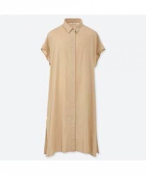 リネンブレンドロングシャツ