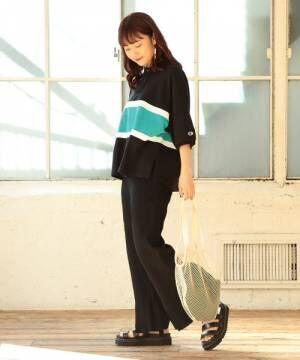 [BEAMS WOMEN] Champion × Ray BEAMS / 別注 ビッグ ポロシャツ