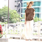 「アースカラーTシャツ」で作る!最旬夏の着映えコーデ