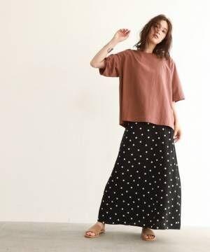 [OZOC] [洗える・36(S)/42(LL)WEB限定サイズ]五分袖ビッグTシャツ