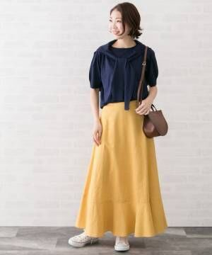 [URBAN RESEARCH ROSSO WOMEN] 【Oggi掲載】【高機能リネン】マキシスカート