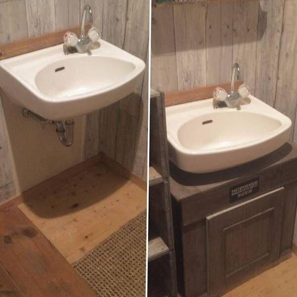 賃貸でもOKな簡単洗面台DIY13