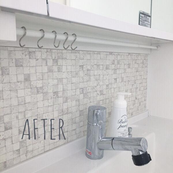 賃貸でもOKな簡単洗面台DIY7