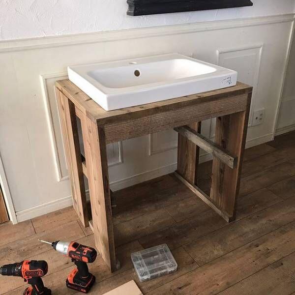 賃貸でもOKな簡単洗面台DIY14