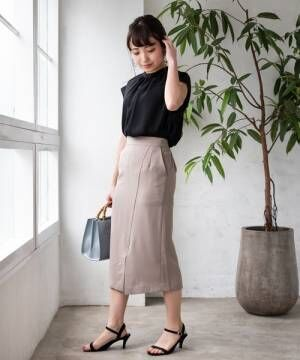[TIENS ecoute] アシメスリットタイトスカート